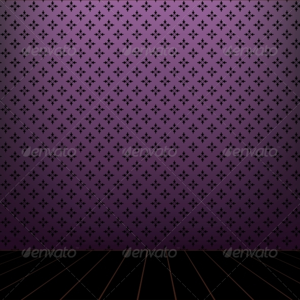 GraphicRiver Lilac Room with Wooden Floor 4068634