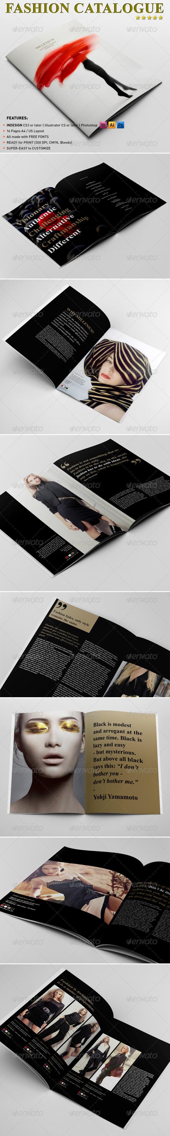 GraphicRiver Fashion Catalogue Brochure Template 4068635