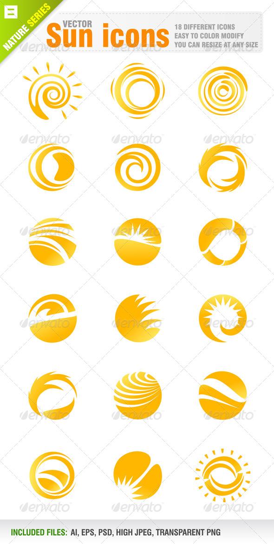 GraphicRiver 18 Sun Icons 4068789
