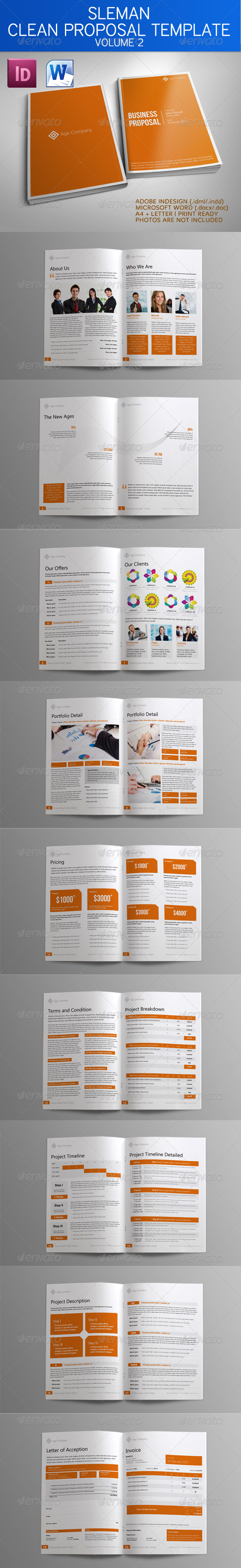 GraphicRiver Sleman Clean Proposal Template Volume 2 4068948
