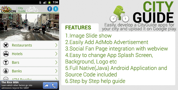 CodeCanyon City Guide Android Application 4069365