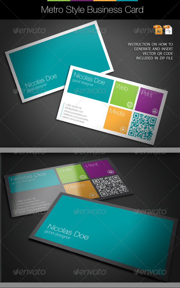 GraphicRiver Metro Style Business Card 4069669