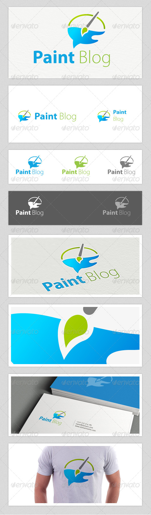 GraphicRiver Paint Blog Logo 4069754