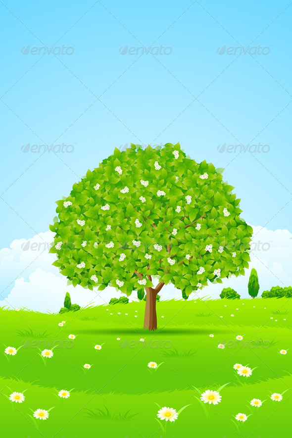 GraphicRiver Tree Background 4069824