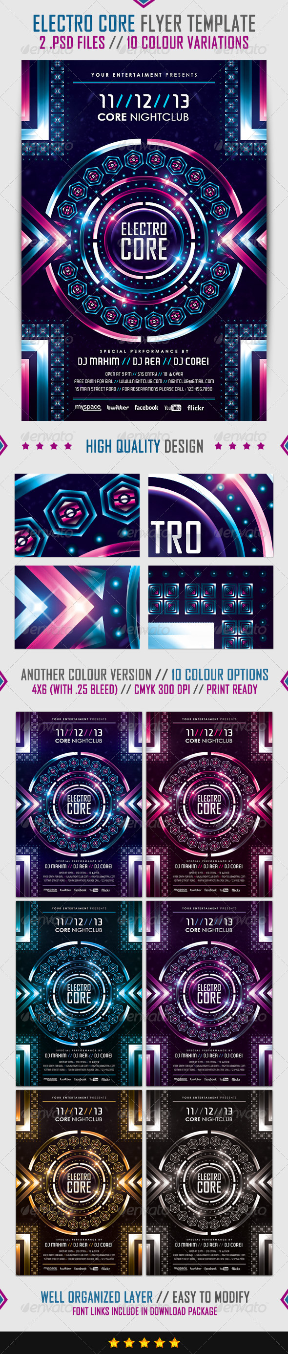 GraphicRiver Electro Core Flyer Template 4070139