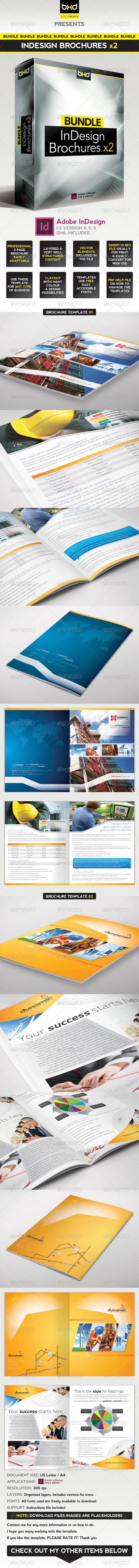 Brochures Bundle - InDesign Layout - Corporate Brochures
