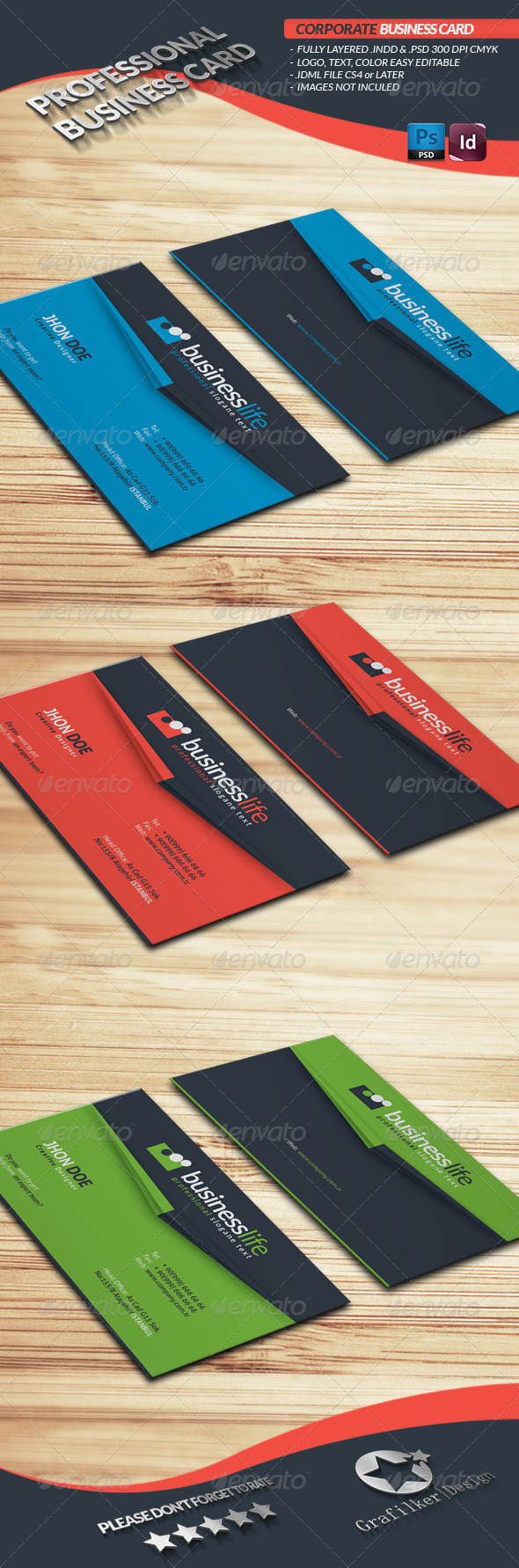 GraphicRiver Corporate Business Card 4070936