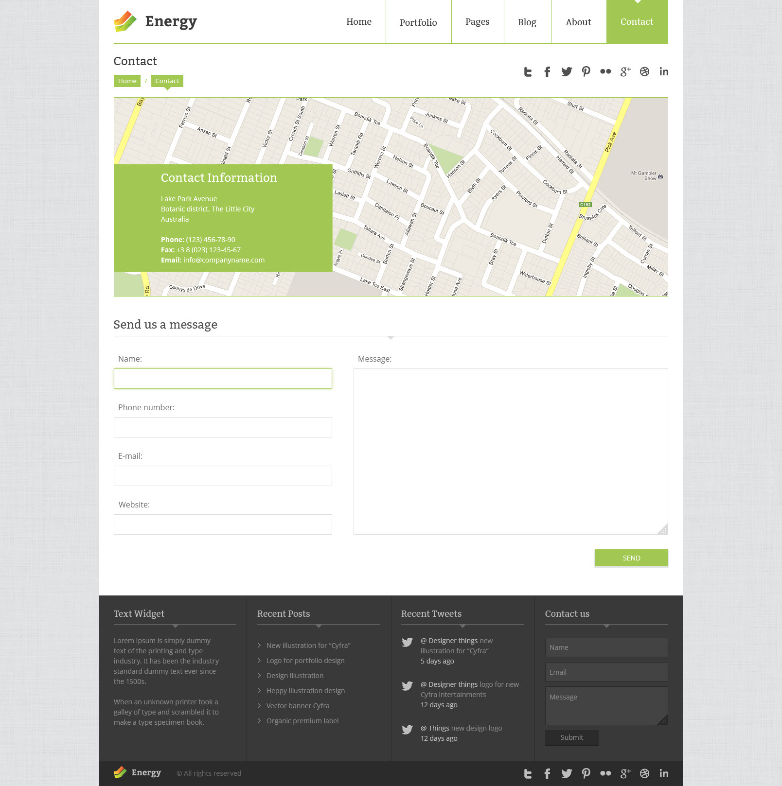 Energy - PSD Template
