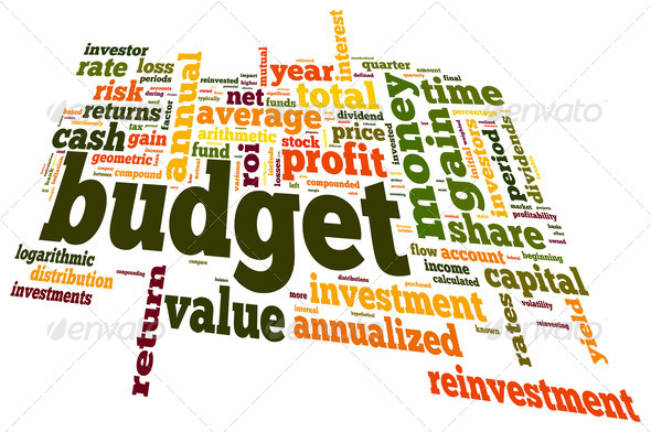 Budget concept in word cloud - Stock Photo - Images