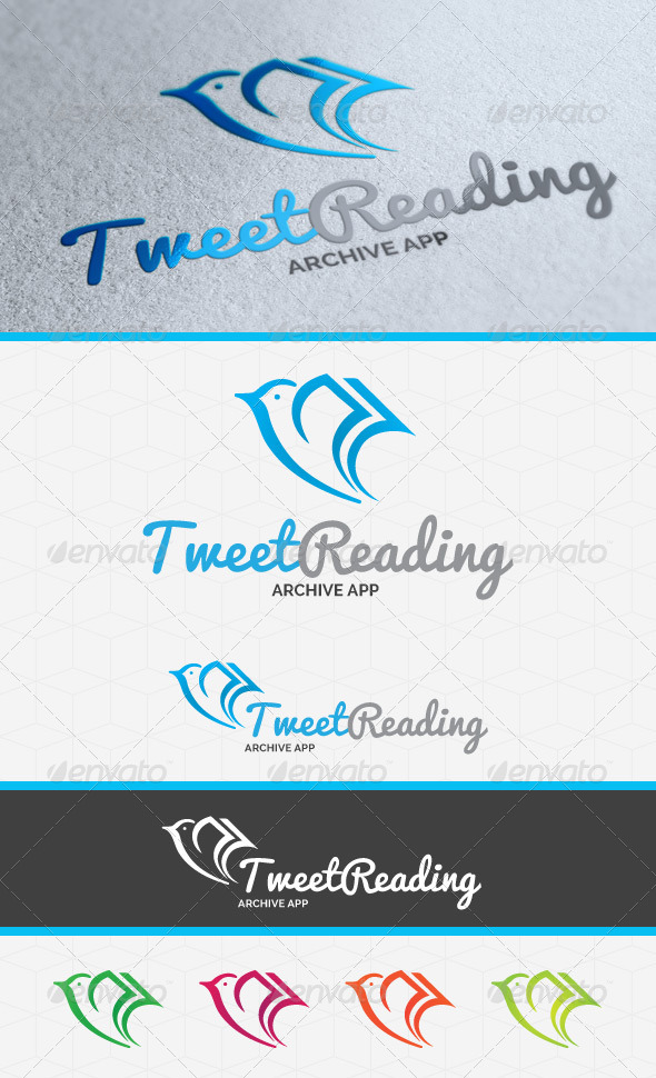 GraphicRiver Tweet Reading Logo Template 4071301