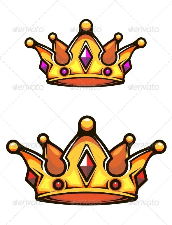 GraphicRiver Vintage Heraldic Crown 4071341