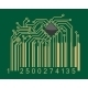 Bar code with computer motherboard elements - GraphicRiver Item for Sale