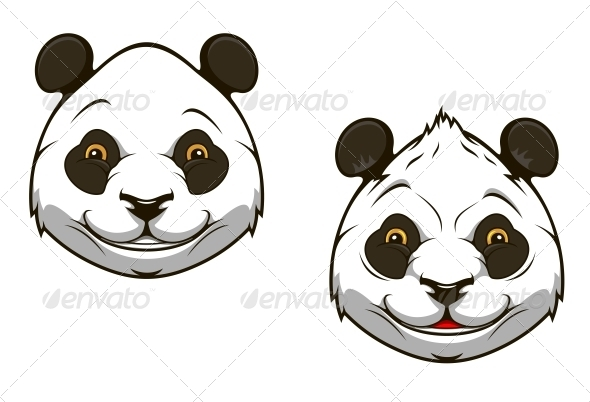 GraphicRiver Funny chinese panda bear mascot 4071562