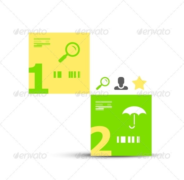 GraphicRiver Modern infographic geometric numbered banner 4071629