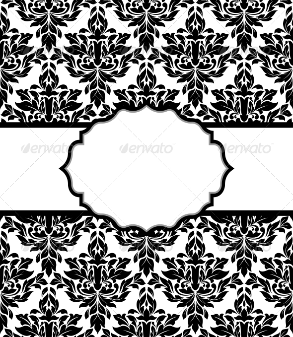 Seamless background with decorative elements
