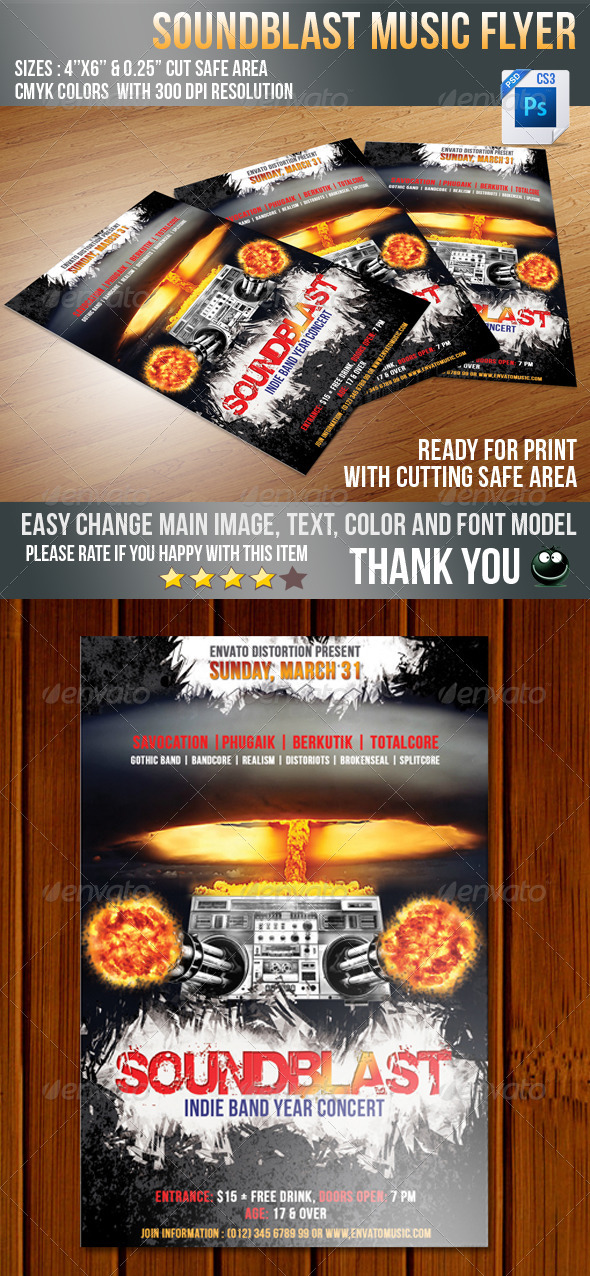 GraphicRiver Sound Blaster Flyer 4071651