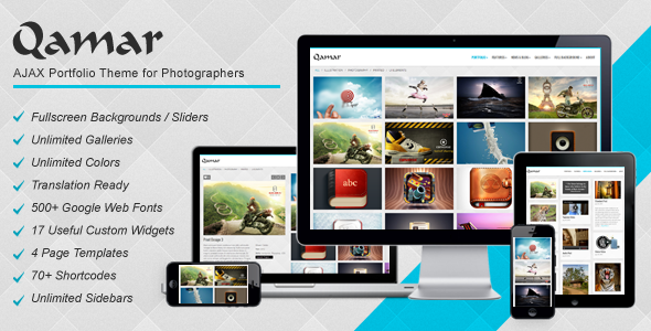 ThemeForest Qamar AJAX Portfolio WP Theme for Photographers 4000174