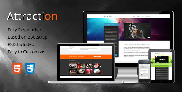 Attraction Responsive Landing Page