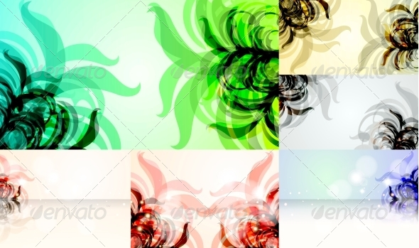 GraphicRiver Set for Floral Vector Background 4072506