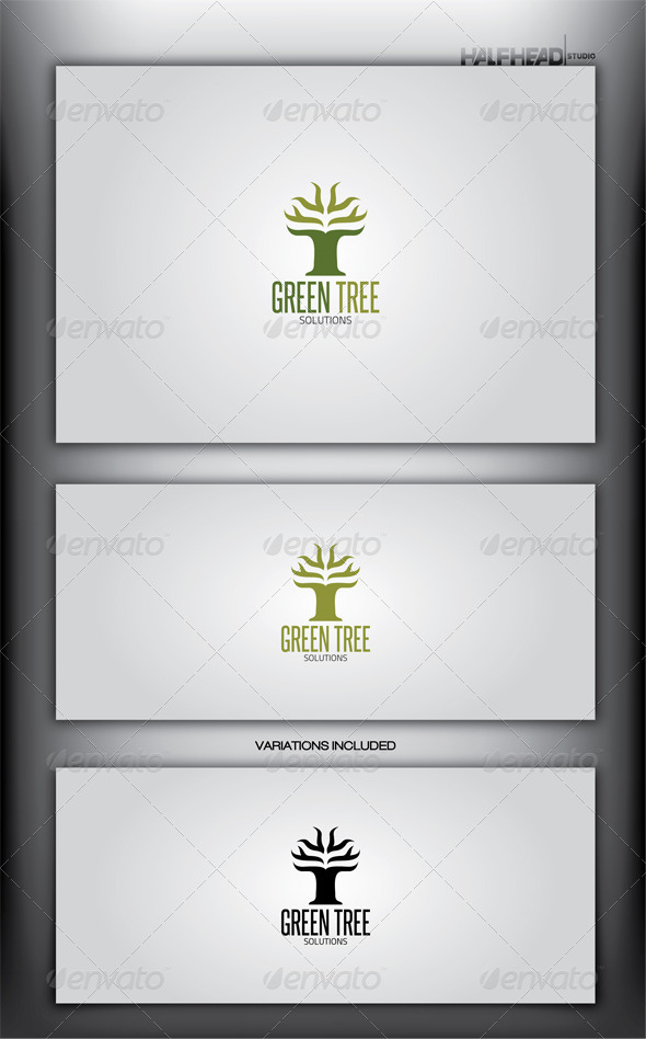 GraphicRiver GREEN TREE Logo Template 4072624