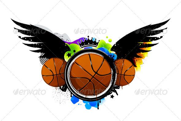 Graffiti with Basketballs
