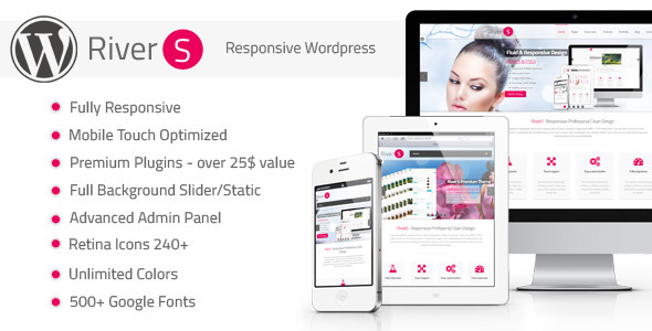 ThemeForest RiverS Retina Responsive Multi-Purpose Theme 4060945