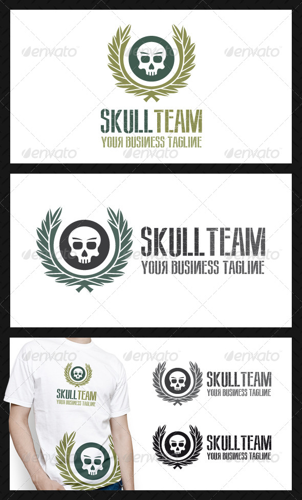 GraphicRiver Skull Team Logo Template 4000948
