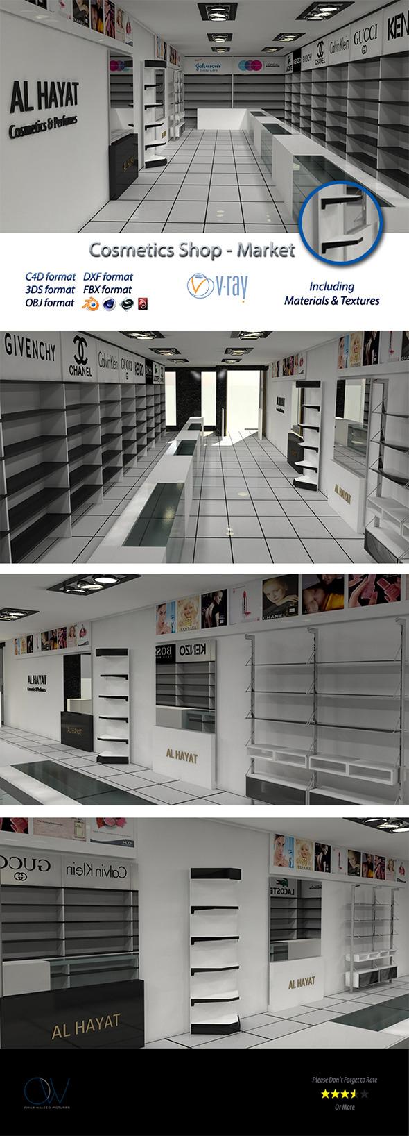 Cosmetics Shop - Market - 3DOcean Item for Sale