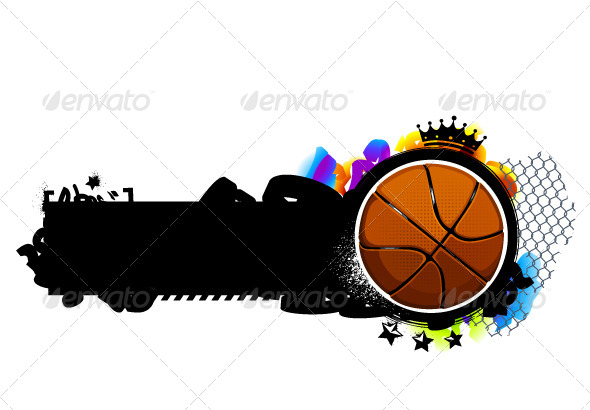 GraphicRiver Graffiti Image with Basketball 4072953