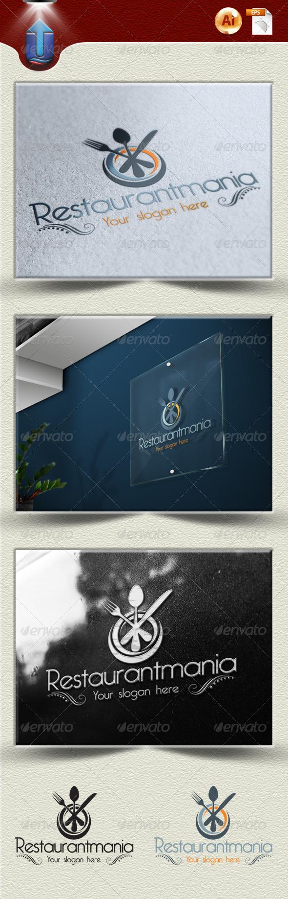 GraphicRiver restaurantmania logo U1 3983921