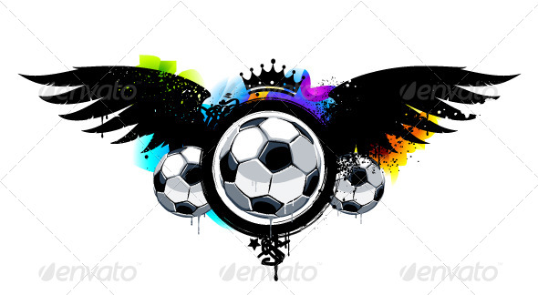 GraphicRiver Graffiti Image with Balls 4073013