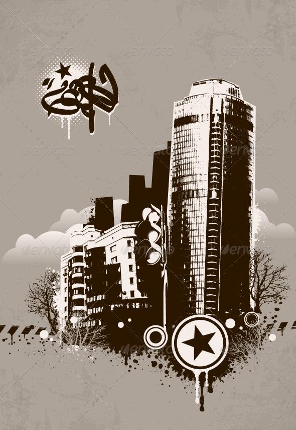 GraphicRiver Grunge Urban Background 4073426