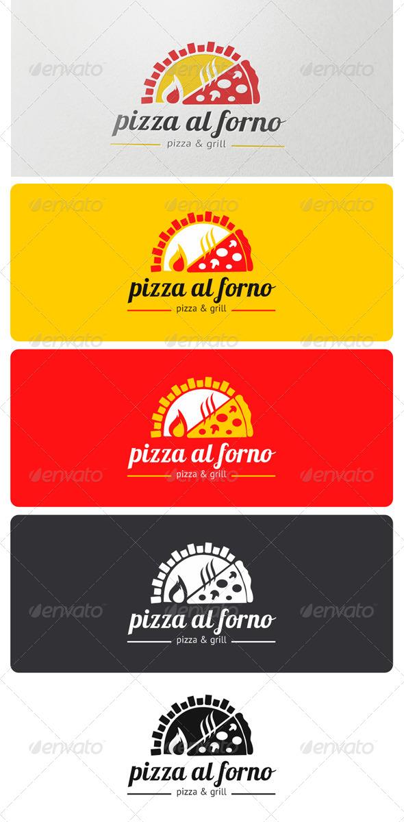 Pizza al Forno Logo - Food Logo Templates