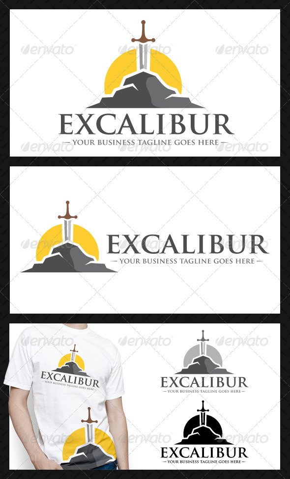 GraphicRiver Excalibur Studio Logo Template 4073625