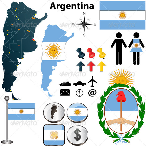 GraphicRiver Argentina Map 4073679