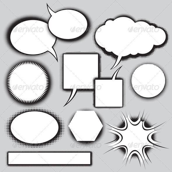 GraphicRiver Vector Set of Comics Style Speech Bubbles 4073741