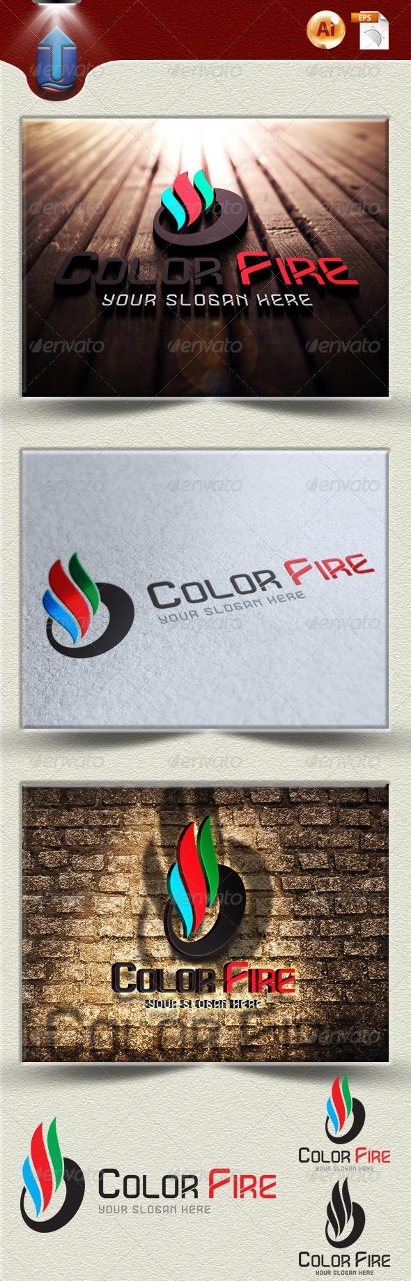 GraphicRiver Color Fire Logo Template U1 3914493