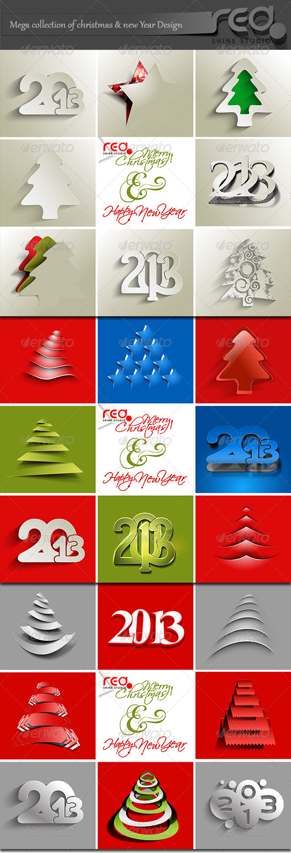 GraphicRiver Mega Collection of Christmas & New Year Design 4074092