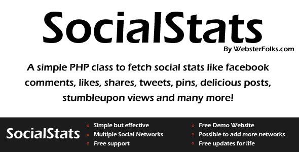 CodeCanyon SocialStats PHP Class 4074278
