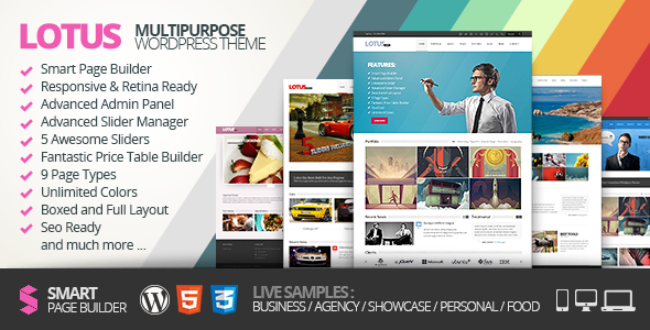ThemeForest Lotus Flexible Multipurpose & Responsive WP Theme 3909293