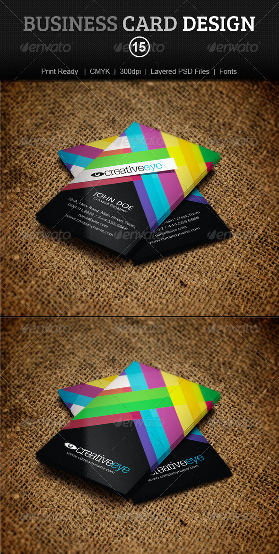 GraphicRiver Business Card Design 15 4074598