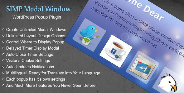 CodeCanyon Simp Modal Window 4074846