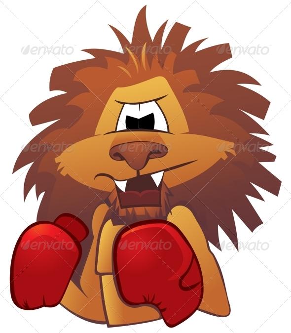 GraphicRiver Lion Boxer 4075581