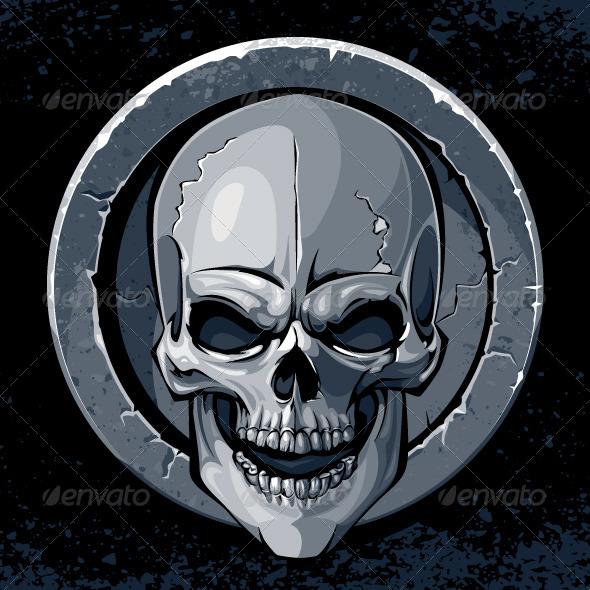 GraphicRiver Skull in Stone 4075624