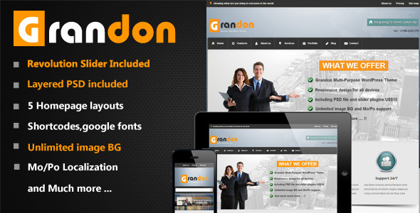 Grandon Multi-Purpose WordPress Theme