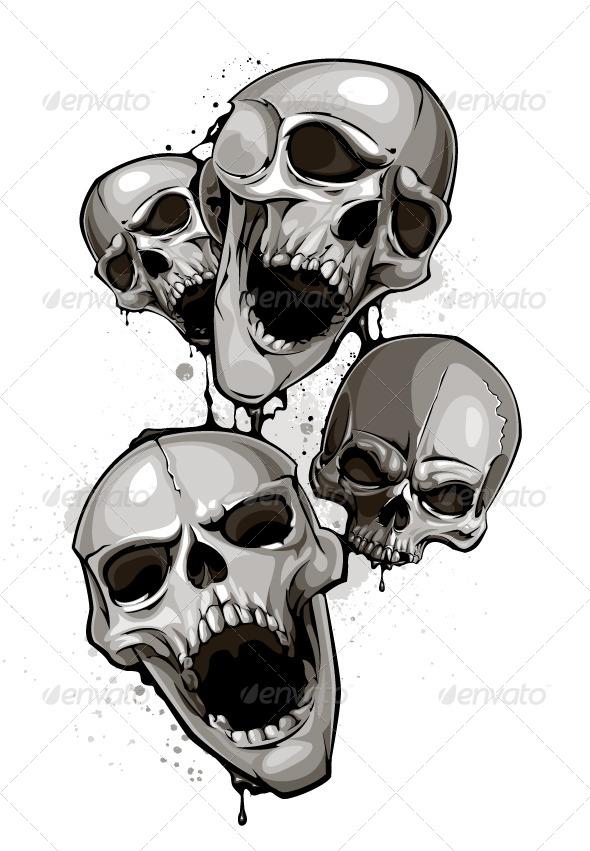 GraphicRiver Decrepit Skulls 4075774