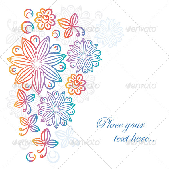 GraphicRiver Abstract Floral Background 4076787