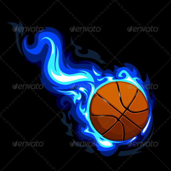 GraphicRiver Burning Basketball 4076799