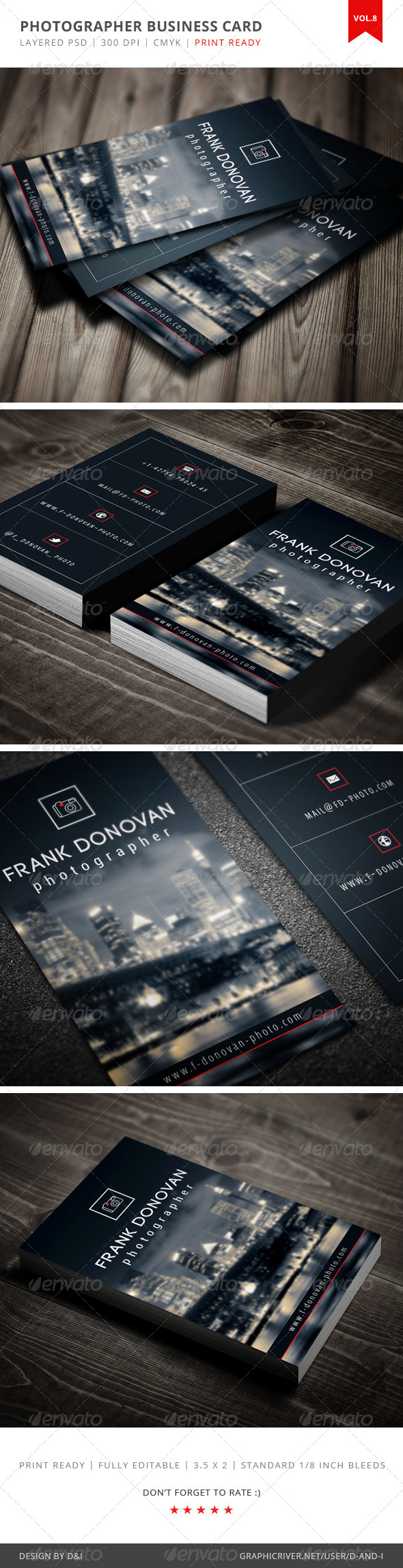 GraphicRiver Photographer Business Card Vol.8 4076955