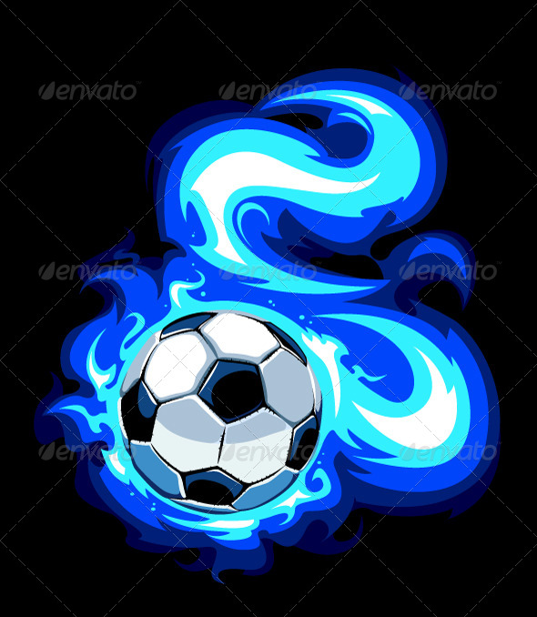 GraphicRiver Burning Soccer Ball 4077095